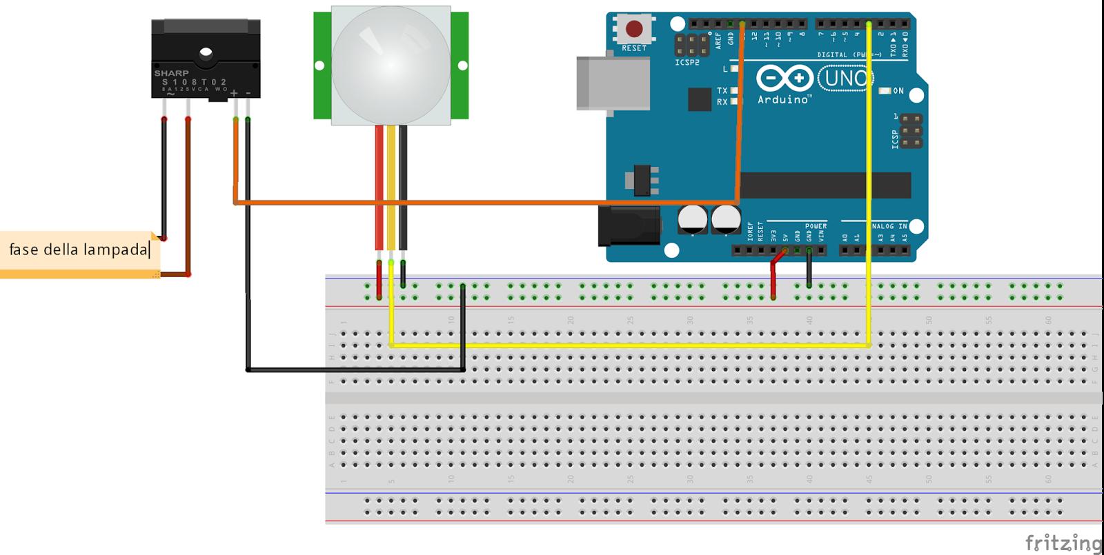 Schema Collegamento Lampada Con Sensore Di Movimento : Il ufficiale di computer museo arduino project