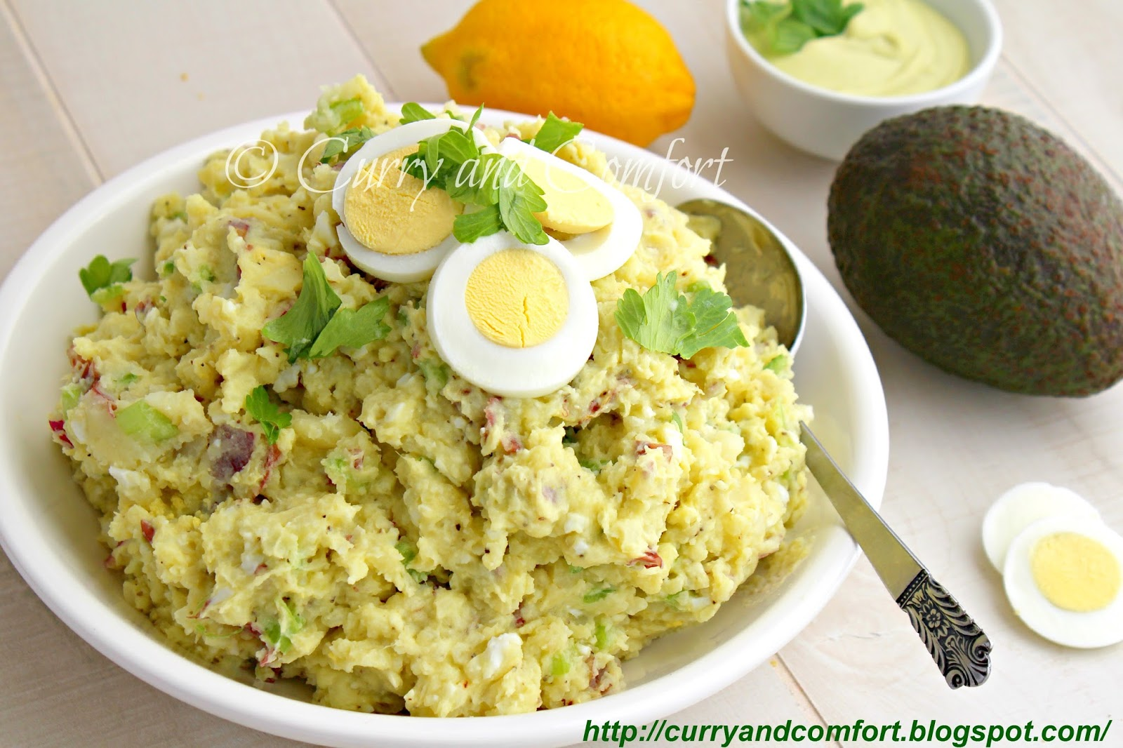 Kitchen Simmer: Smashed Potato Salad with Avocado Dressing
