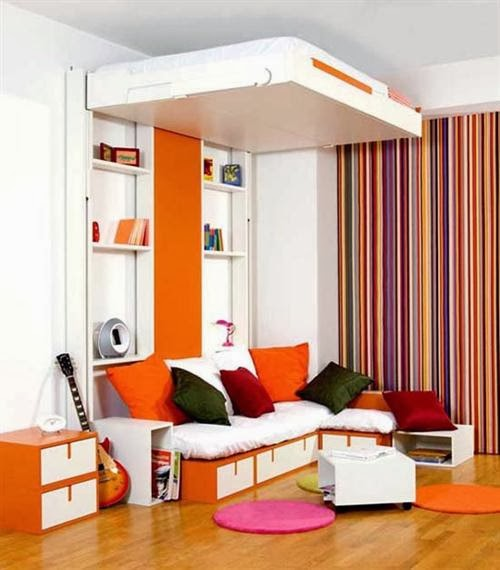 Dormitorio infantil en espacio peque os como decorar - Dormitorios con poco espacio ...