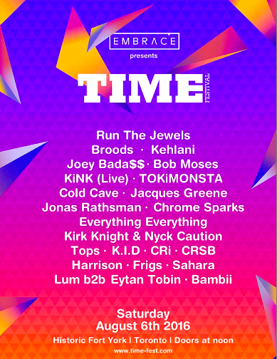 Time Fest w/Run The Jewels @ Fort York, August 6