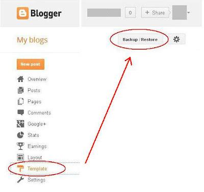 Backup New Blogger Interface