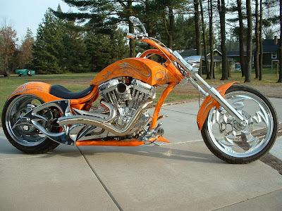 Harley Davidson Orange Custom Edition Wallpaper
