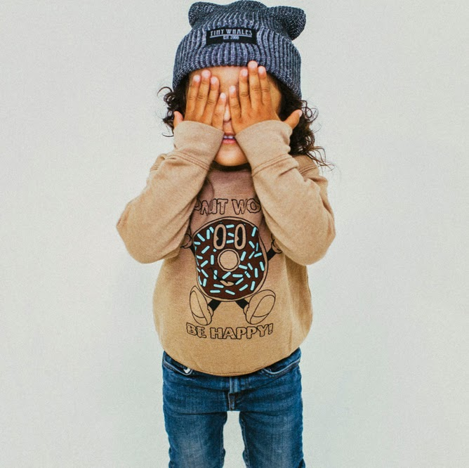 "Tiny Whales: Kids sweatshirt ""DONUT WORRY"""