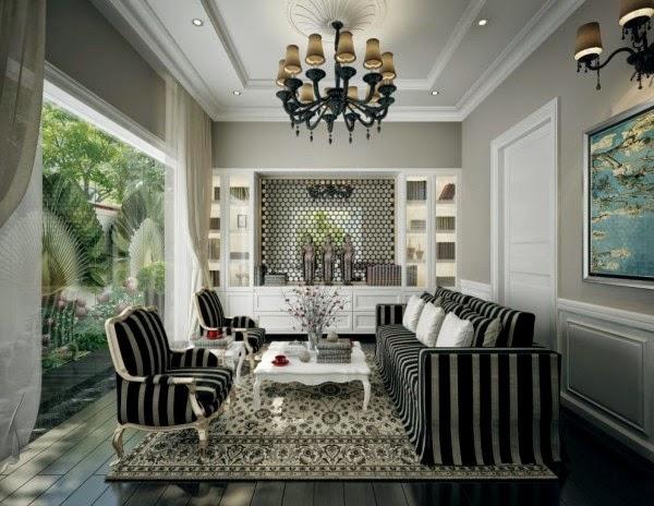 Salas peque as color gris y blanco colores en casa - Kleur trend salon ...