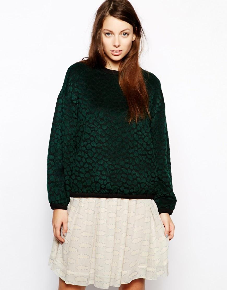 green velvet jumper