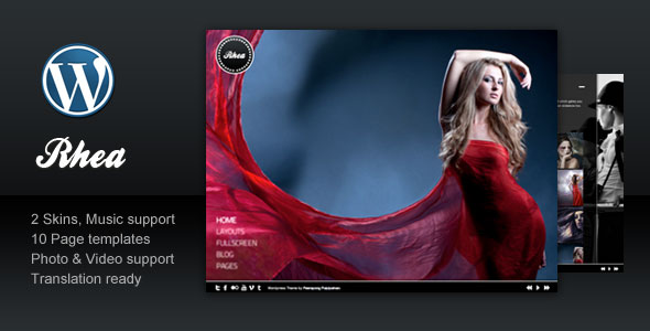 Rhea - Photography Portfolio WordPress Theme Free Download by ThemeForest.