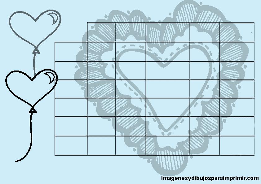 horario con corazones