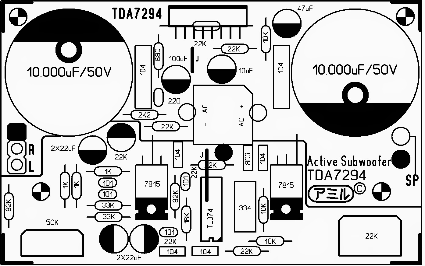 DIY ELECTRONICS PROJECTS: Active subwoofer TDA7294 | Proyek untuk ...
