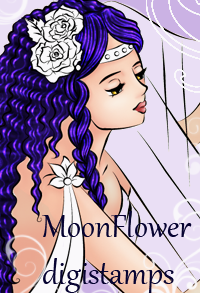 Moon flower Digital Stamps