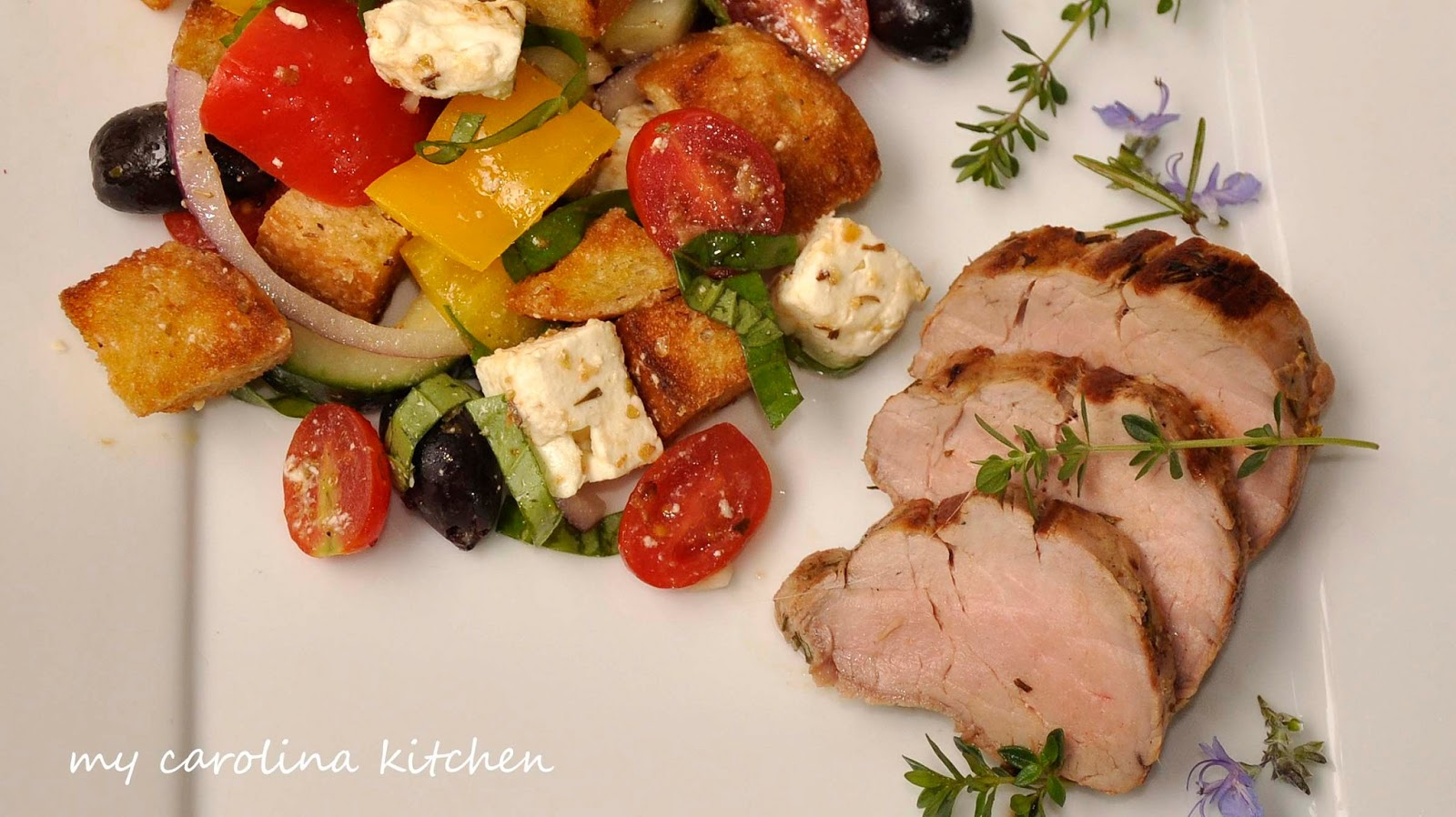 Ina Garten Tenderloin my carolina kitchen: herb-marinated pork tenderloin with a greek