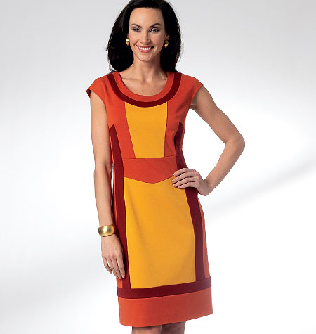 Color blocked dress pattern