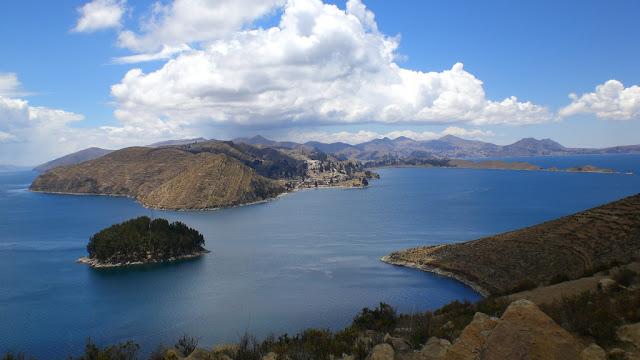 Visla del lago Titicaca