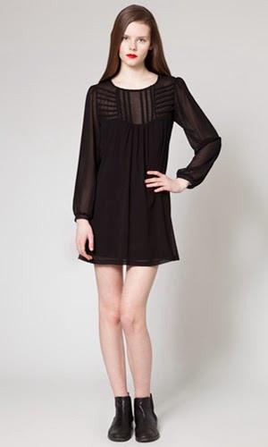 vestido negro corto Poète