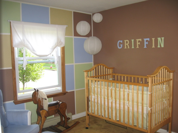 Baby boy nursery ideas interior design ideas for Baby boy mural ideas