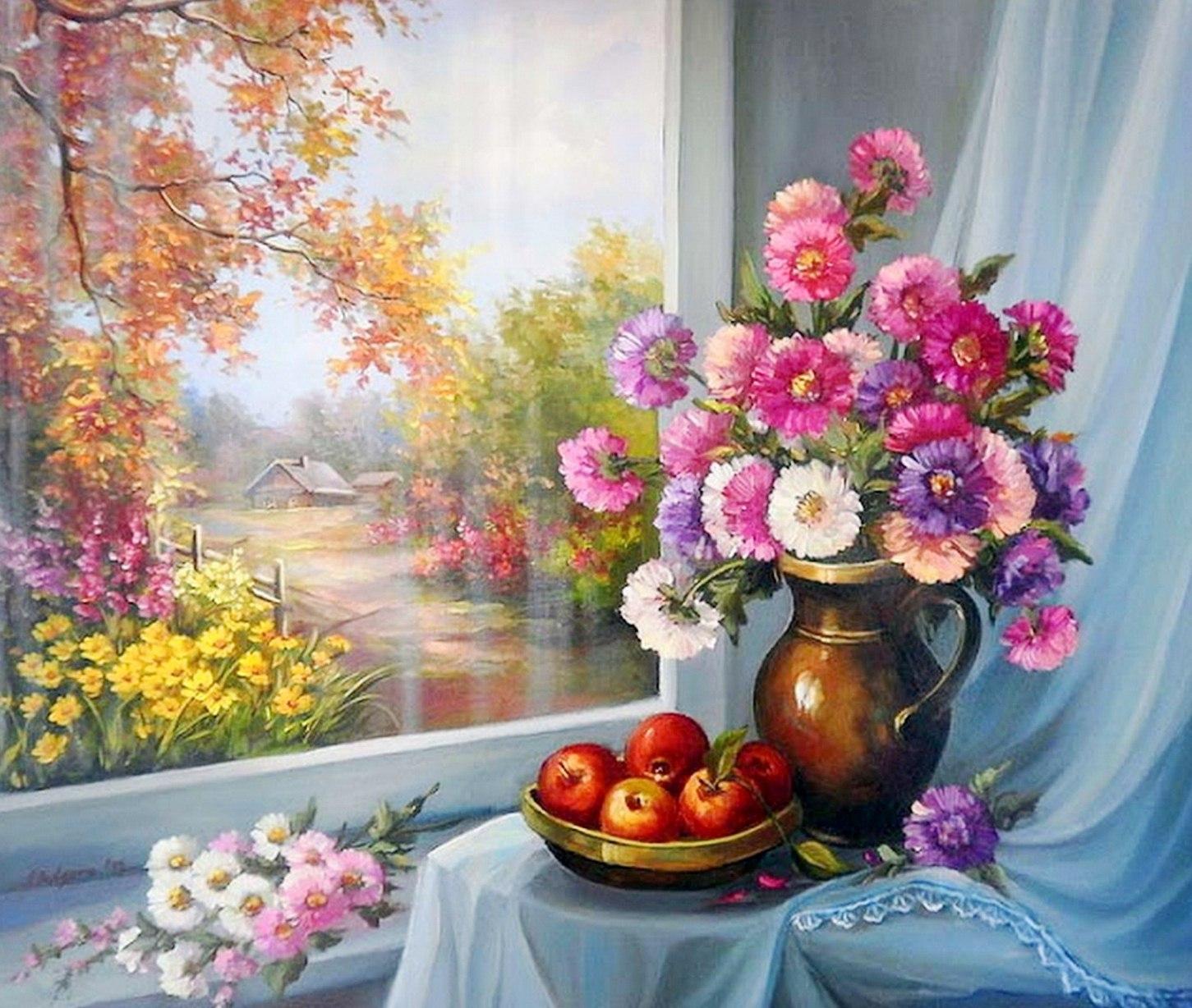LA PRIMAVERA LLEGO¡!! Cuadros-de-flores-con-paisaje+(9)