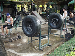 Outdoor weight room
