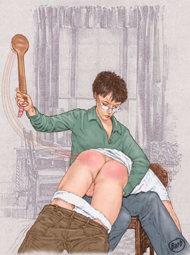 Erotic spanking f m