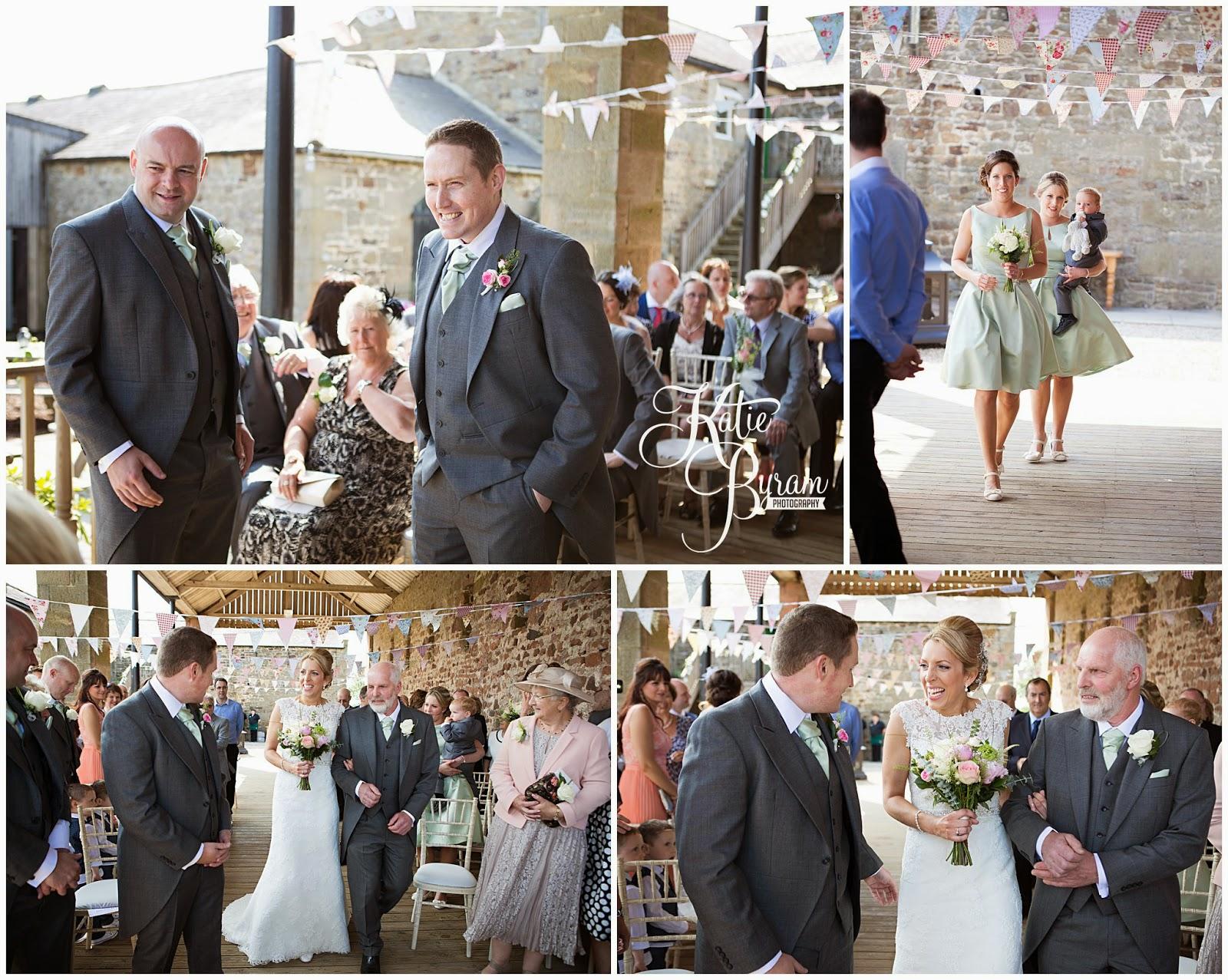 high house farm brewery, healey barn, high house farm wedding, matfen wedding, matfen brewery, quirky wedding venue, northumberland, katie byram photography, hay bales wedding, bride and groom, farm wedding