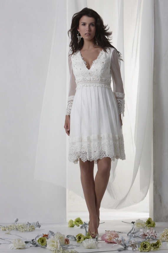 2011 baby doll silhouette wedding dresses world of bridal for Baby doll wedding dress bridal gown