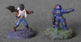 Khurasan Space Captain and GZG UNSC marine