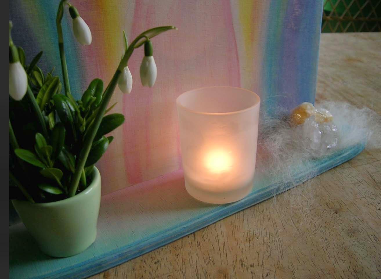 Engelbild, Aquarellengel, Waldorf Aquarellbild, Andachtsbild, Altar