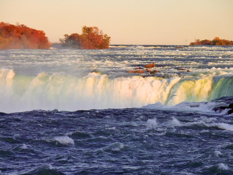 Detalle de las Horseshoe Falls, desde Canadá