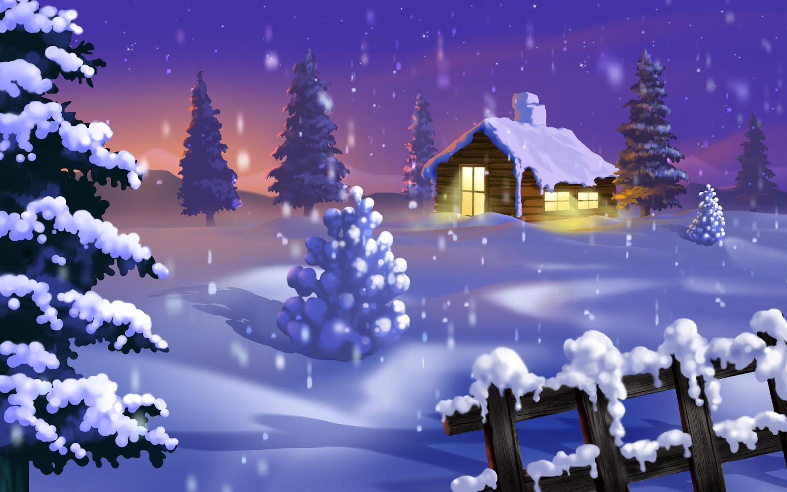 Winter background HD
