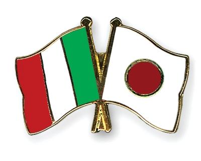 Flag Pins Italy Japan