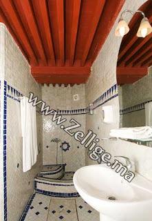 hammam salle de bain en mosaique zellige marocaine - Zellige Marocain Salle De Bain