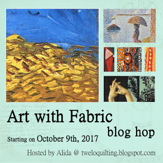 Art with Fabric Blog Hop Fall 2017