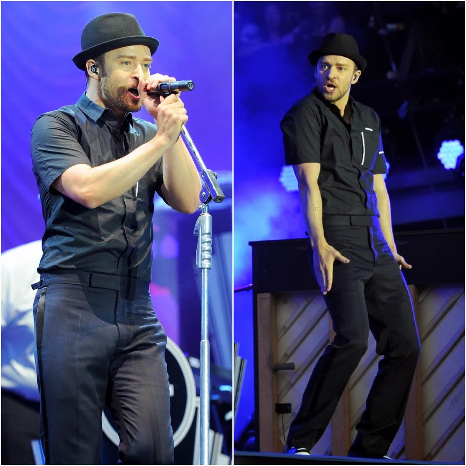 00O00 Menswear Blog: Justin Timberlake in Alexander Wang - Yahoo Wireless Music Festival, London