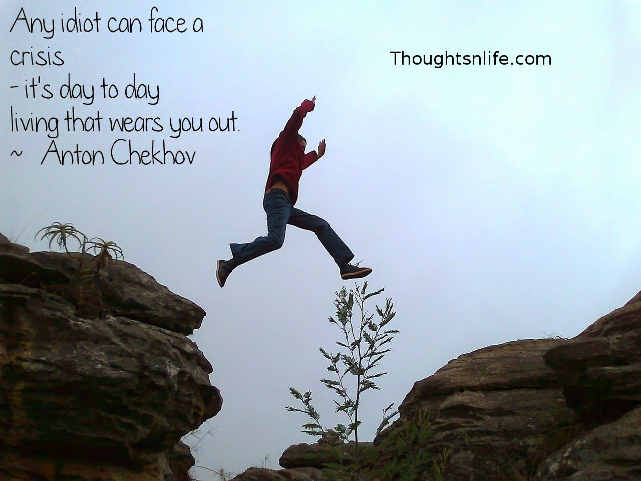 Thoughtsnlife.com: Any idiot can face a crisis - it's day to day living that wears you out. ~   Anton Chekhov