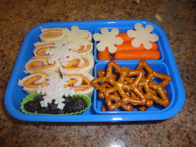 Snowflakes roll ups, bento school lunches