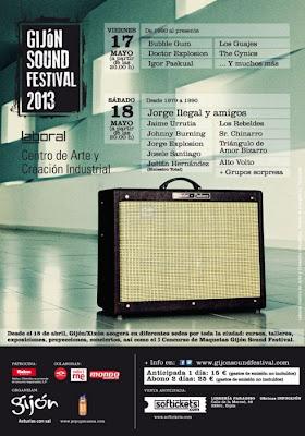 Gijón Sound Festival 2013 cartel