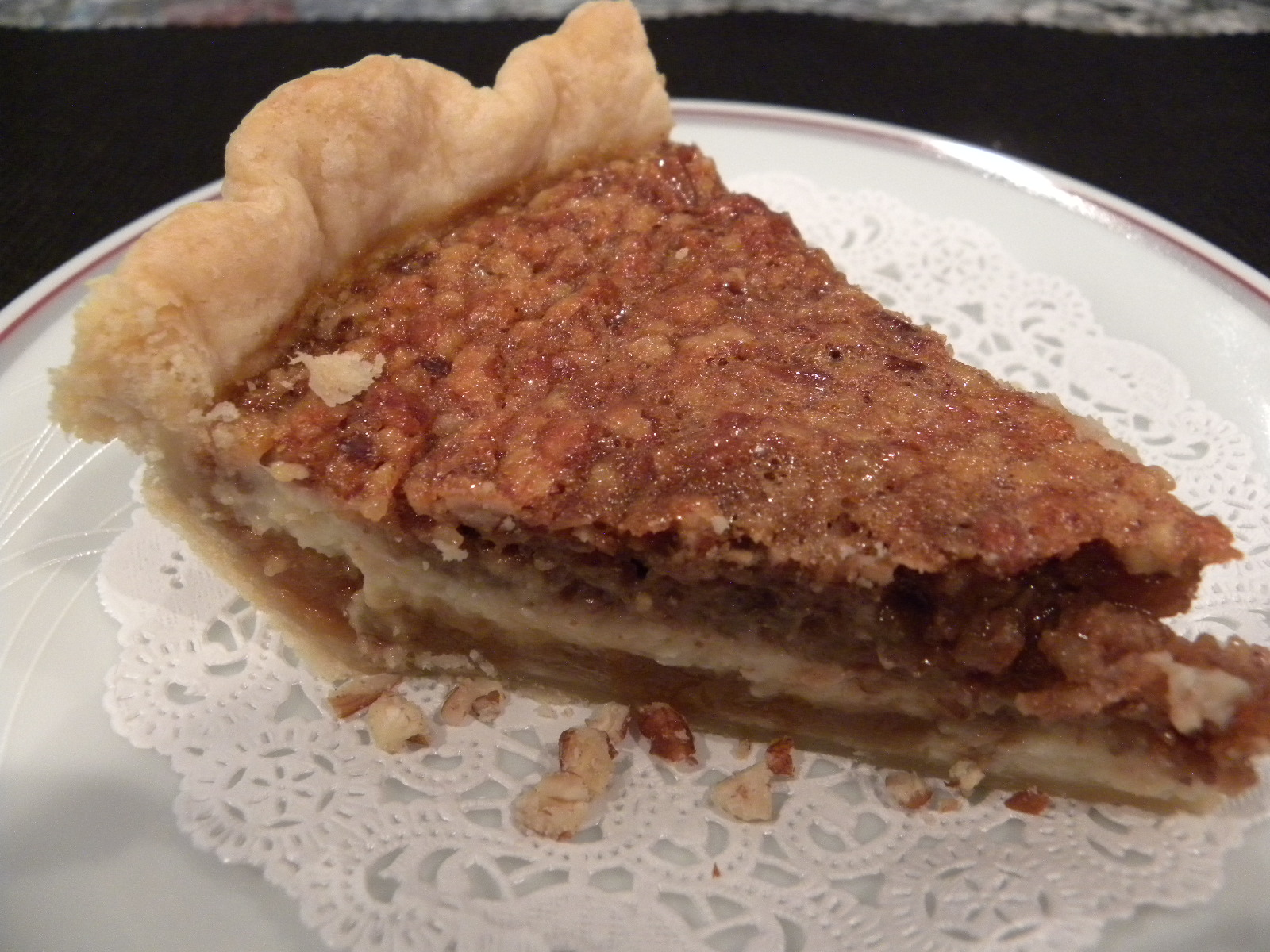 ... for Connecting with Family and Friends: Caramel - Pecan Cheesecake Pie