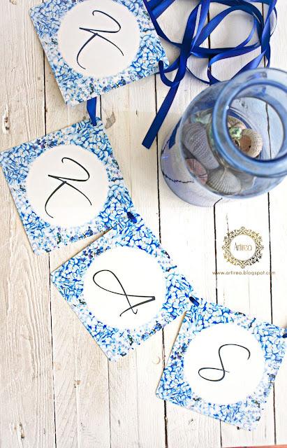 Literki na ślub na sznurku Artirea