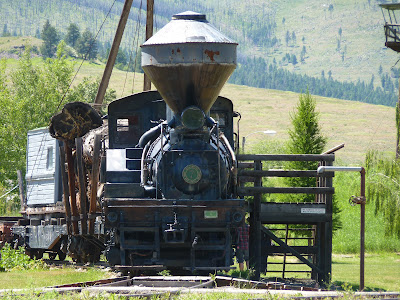 an old logging train at Ft Missoula