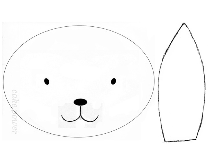 Images of Easter Bunny Face Template - #SpaceHero