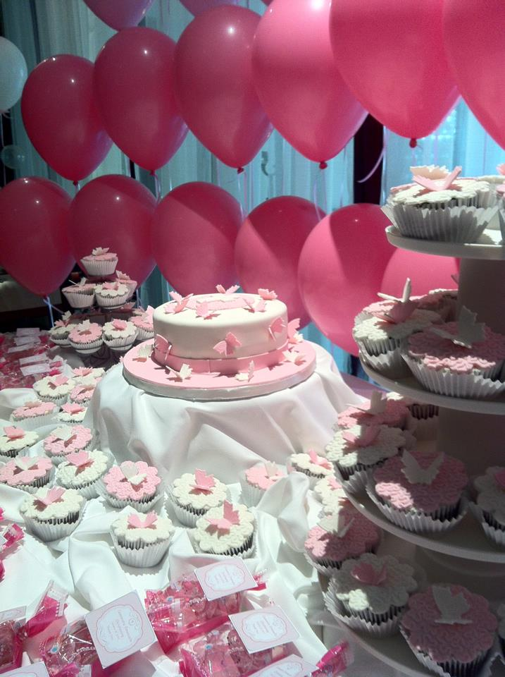Ami 39 s party ideas butterfly themed christening for baby girl for Baby girl baptism decoration ideas