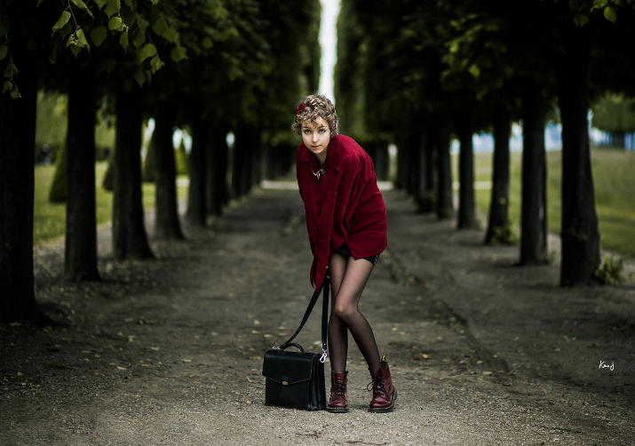 fashion photography, blog mode, das sheep, Knas, burgundy outfit