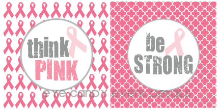 think pink graphic, be strong graphic, breast cancer
