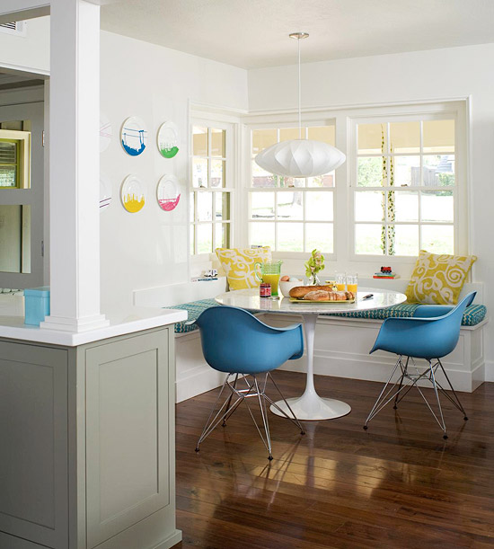 Breakfast Nook Table: Breakfast Nook Ideas Kitchen White Elegant