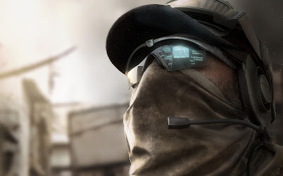 Tom Clancy Ghost Recon Soldier with Sunglasses and Mouth Mask HD Wallpaper