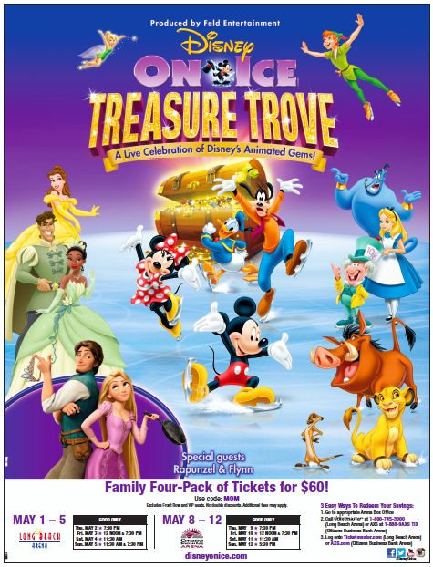 disney on ice: treasure trove discount code flyer