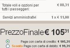 11 euro Easyjet