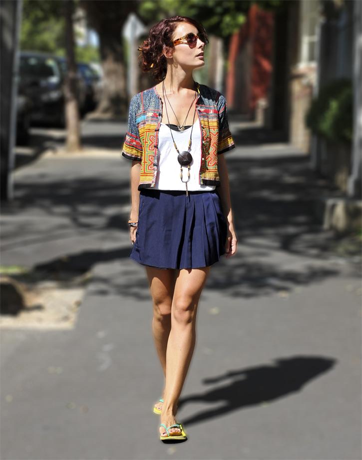 Hmong Jacket, Sydney Street Style, ethnic style, wandering threads, Samantha Davis, traditional dress