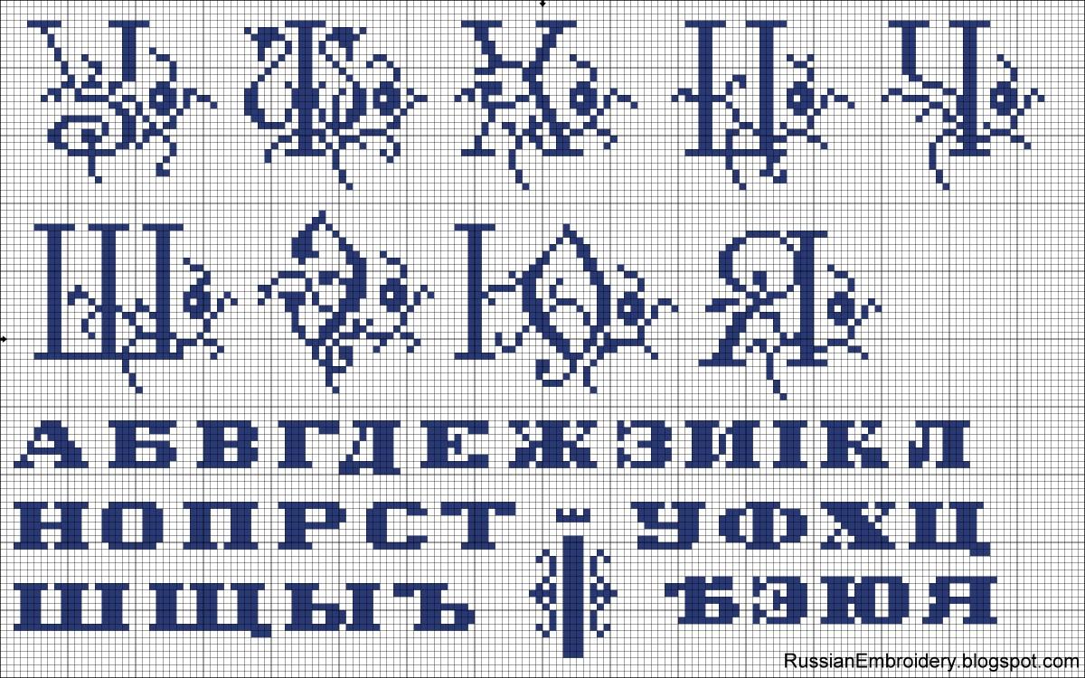 Вышивка крестом алфавиты 71