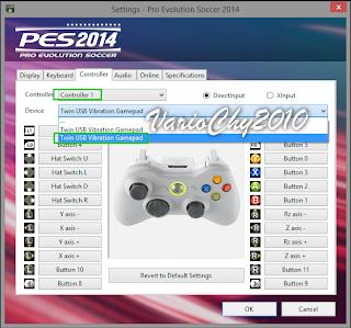 Cara Setting Controller PES 2014