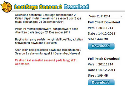 Cara Install Patch Lost Saga Season 2