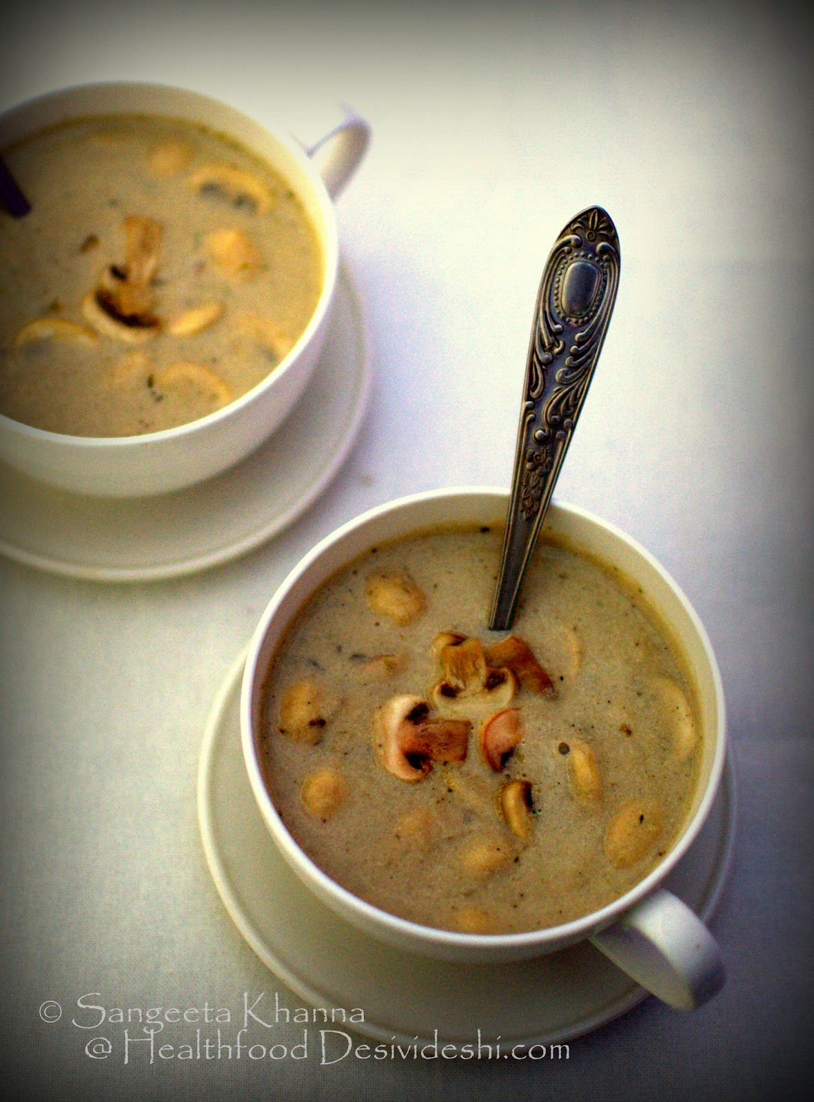 cauliflower and mushroom soup with a hint of caramalised onions | eating seasonal and local produce mindfully